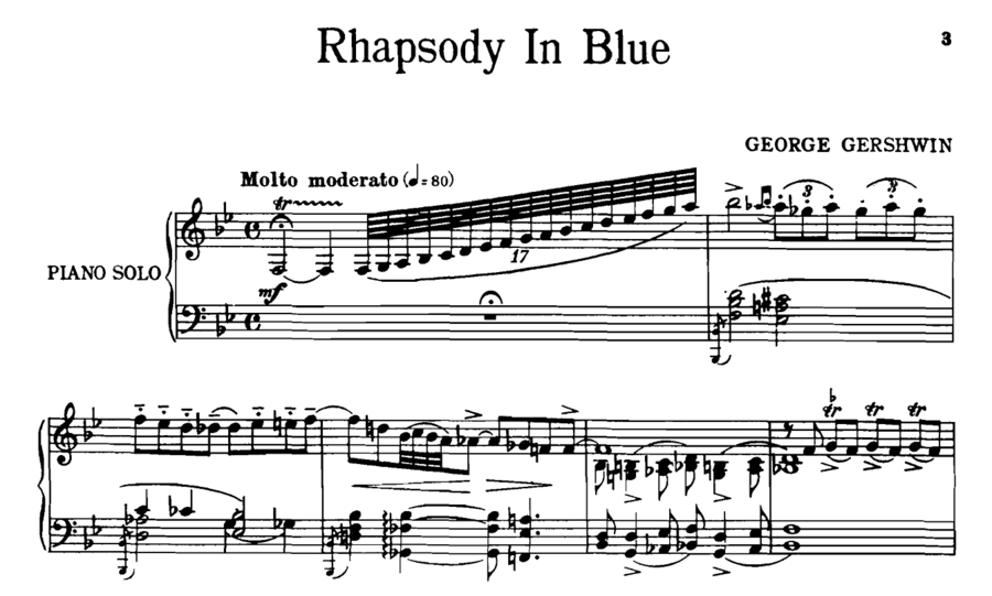 Scanned Rhapsody in Blue